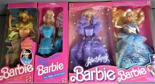 Four Vintage Barbie Dolls In Original Boxes