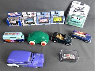 Die-Cast Collectible Toy Cars- M2, Shasta, VW