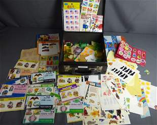 Case Full of Vintgae Stickers and Seals from 1980s