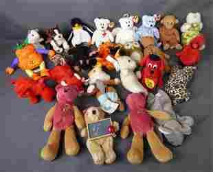 Lot of Beanie Babies Soft Plush Toys