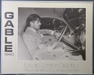 Clark Gable 1940 Edward Weston Graphics Poster