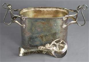 Emilia Castillo Taxco Silver Monkey Ice Bucket