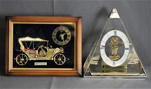 Linden Automobile Clock & Howard Miller Pyramid Cl