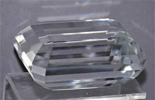 Tiffany & Co Emerald Cut Clear Crystal Paperweight