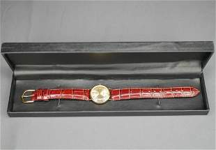 Vicence 14k Gold Wrist Watch Italy