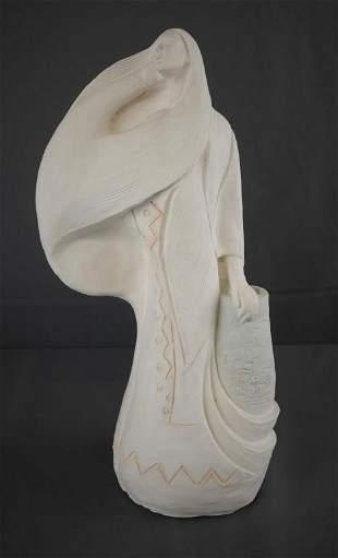L. Benavides Jr Comanche Land Indian Sculpture