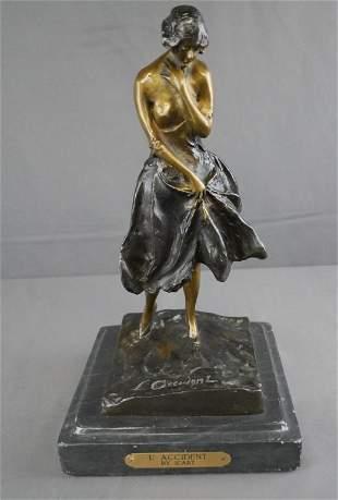 L'Accident Bronze Sculpture after Louis Icart