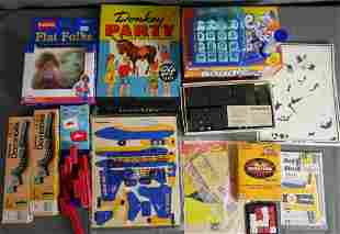 Lotof Vintage Games & Toys- Donkey Party, Dominoes