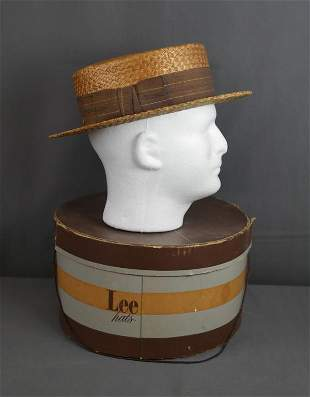1930's Vintage Seamont Straws Straw Hat in Box