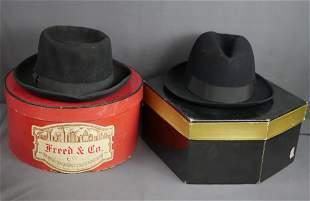 Mid Century Fedora Hats- Mallory & Freed & Co