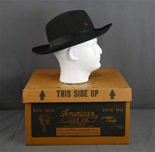 Vintage Charlie 1 Horse Black Cavalry Hat