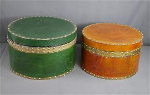 Two Vintage Round Hat Boxes