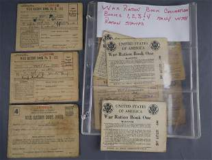 WWII US War Ration Books