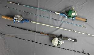 Vintage Fishing Rods w/ Reels- Shakespeare Ugly S