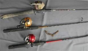 Vintage Fishing Rods w/ Reels- Shakespeare