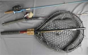 Vintage Fishing Rods- Zebco 4053 & Fishing Net