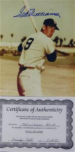 Boston Red Sox Ted Williams Autographed Photograph