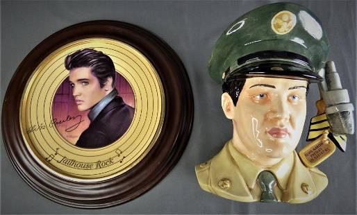Royal Doulton Elvis Presley Toby Jug & Plate