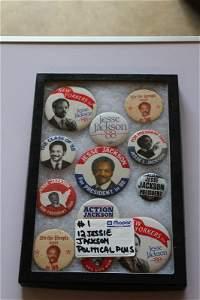 12 Jessie Jackson campaign buttons
