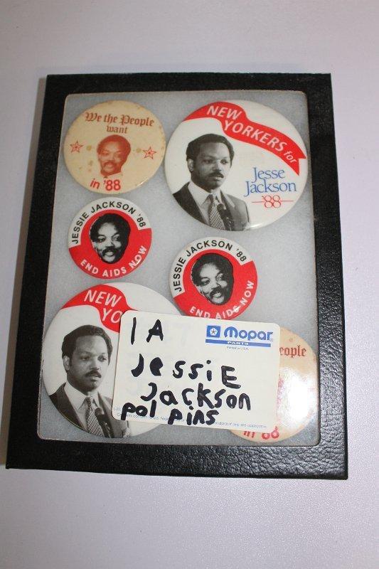 6 Jessie Jackson campaign buttons