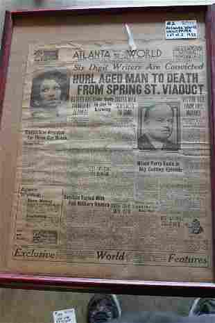 1932 Atlanta World black newspapers
