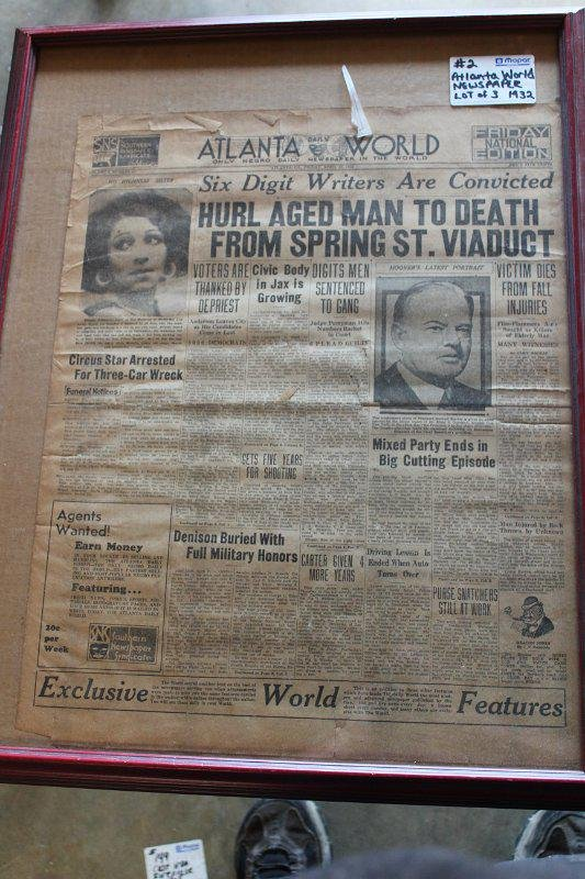 1932 Atlanta World black newspapers