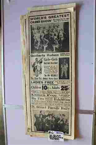 Advertising posters of black circus