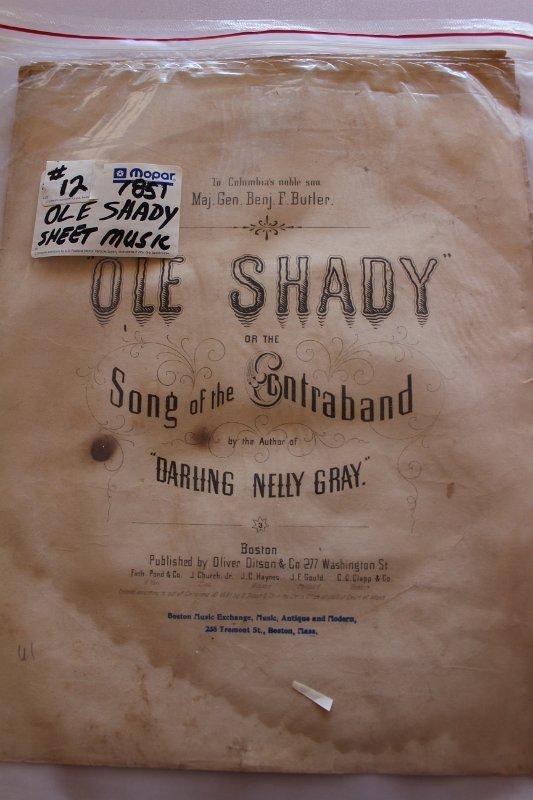 Ole Shady sheet music 1851
