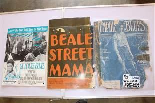 Sheet music Beale Street Blues & photos of WC Handy all
