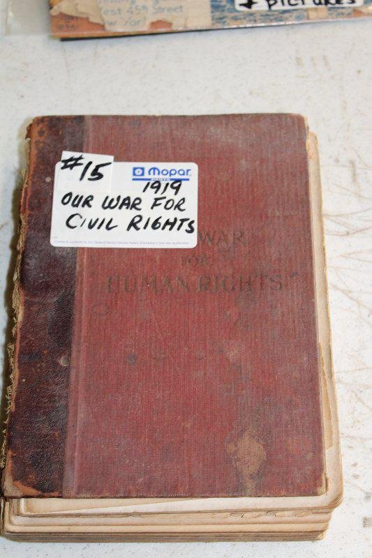 Our War for Civil rights book by Kelly Milter 1919