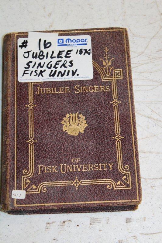 Jubilee Singers book Fisk University Nashville, TN by