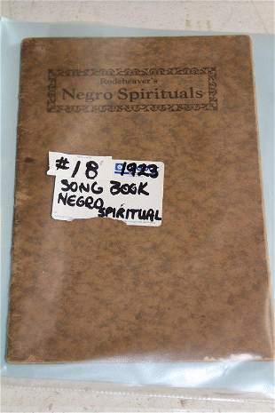 Negro Spirituals song book 1923 Rodeheavers leather