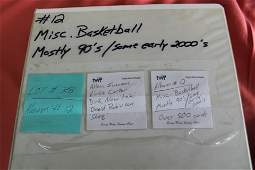 Album of misc basketball cards 1990s some early