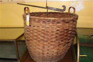 Cotton picking basket & scales ca. 1860