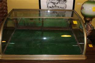 Small glass countertop display case