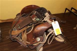 Cowboy roping saddle