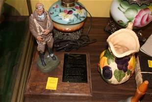 High Flight aviator figure on plaque