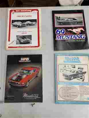 Assorted set of 4 Mustang books