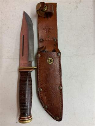 Quartermaster Army-95 knife with leather sheath