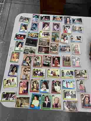 Assorted Charlie's Angels and TV show trading cards