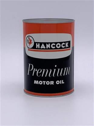 Full 1 Quart Can Hancock Premium Motor Oil TAC 9.25