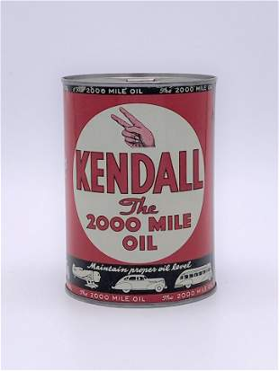 Kendall The 2000 Mile Oil Motor Oil 1 Quart Can TAC 9.0