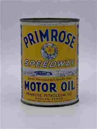 Full 1 Quart Can Primrose Speedway Motor Oil TAC 8.0