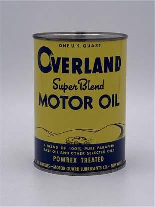 Full 1 Quart Can Overland Super Blend Motor Oil 9.75