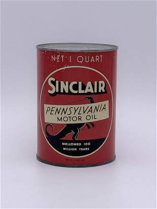 Sinclair Pennsylvania Motor Oil 1 Quart Can TAC 8+