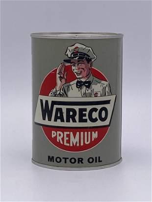 Full 1 Quart Can Wareco Premium Motor Oil TAC 9.0