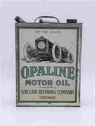1920's Sinclair Opaline Motor Oil 1 Gallon Can TAC 8.25