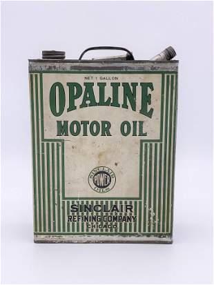 1920s Sinclair Opaline Motor Oil Power Oil 1 Gallon Can