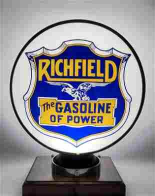 Richfield The Gasoline of Power Single Lens Globe Body