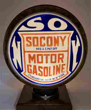 Socony Gasoline Standard Milk Glass Complete Globe Body